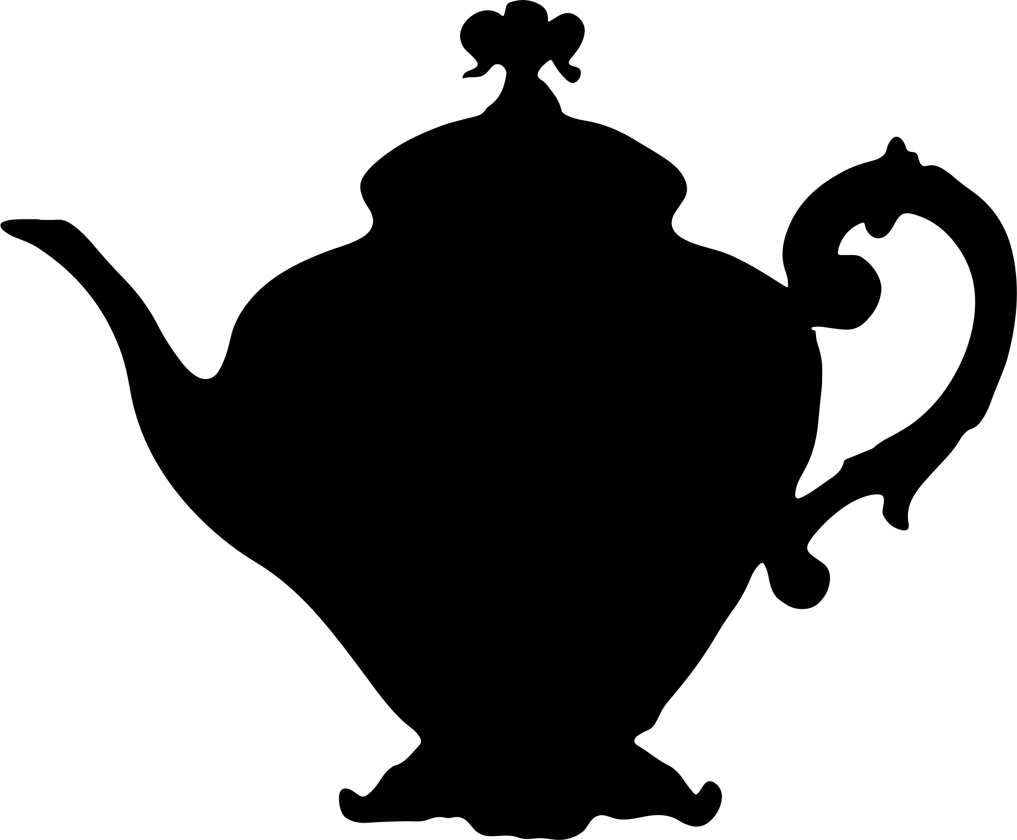 Clipart vintage teapot silhouette