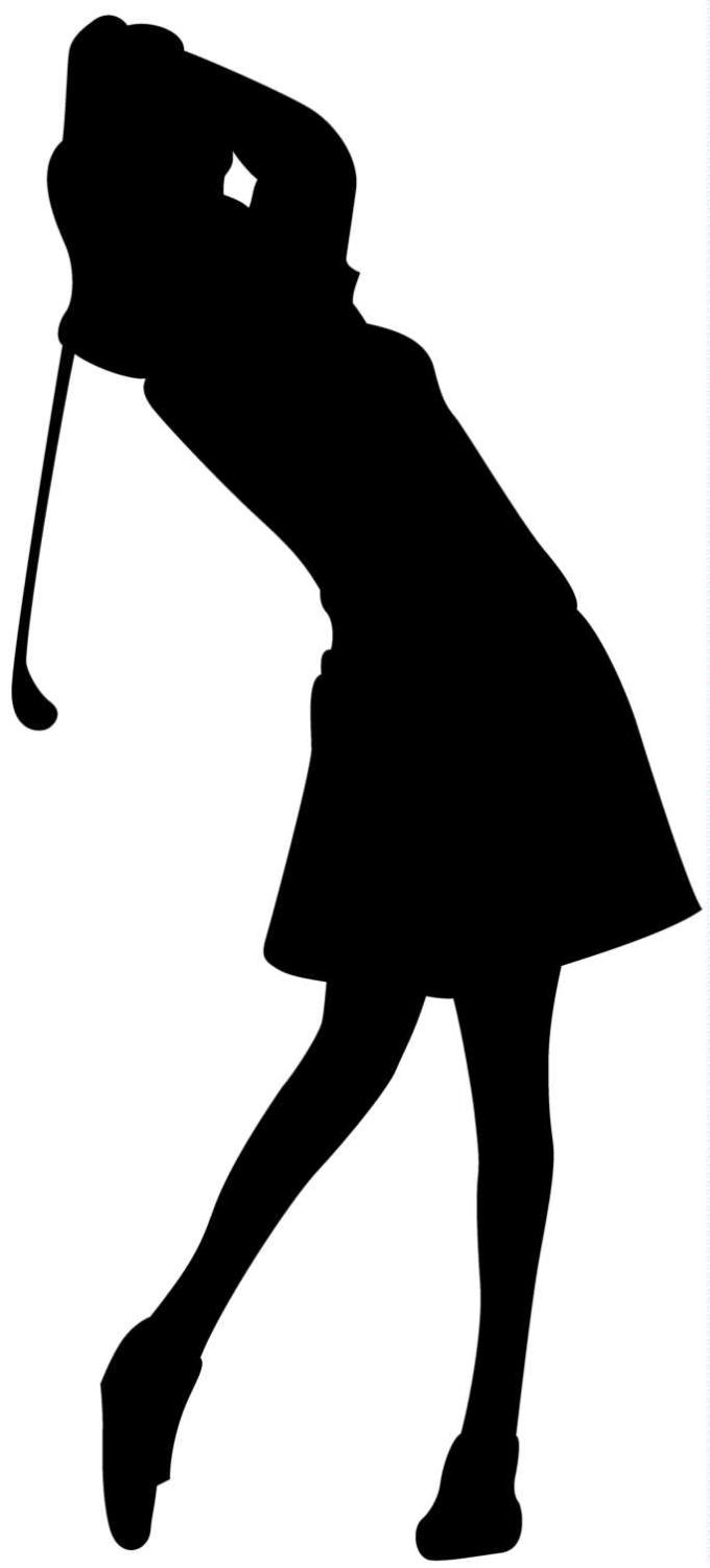 Golfer golf clipart black and white free clipart images ...