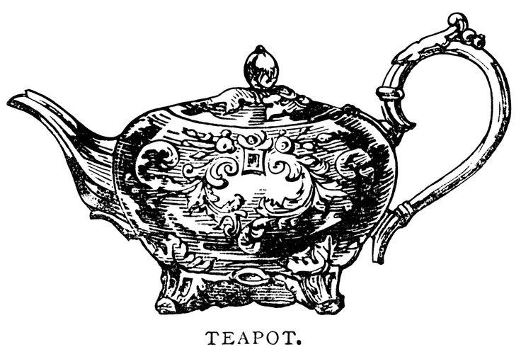 Free clip art images vintage teapot  2