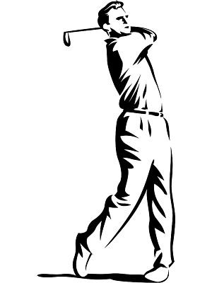 Golfer swing clip art
