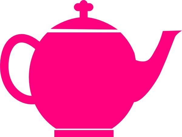 Pink teapot pink teapot clip art