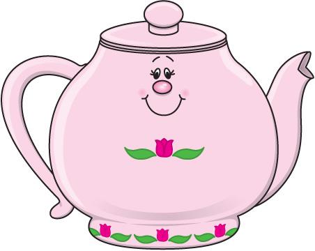 Rustic teapot clipart