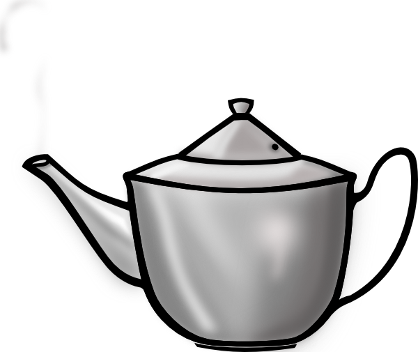 Teapot clipart black and white free clipart images 6