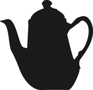 Teapot clipart black and white free clipart images 7