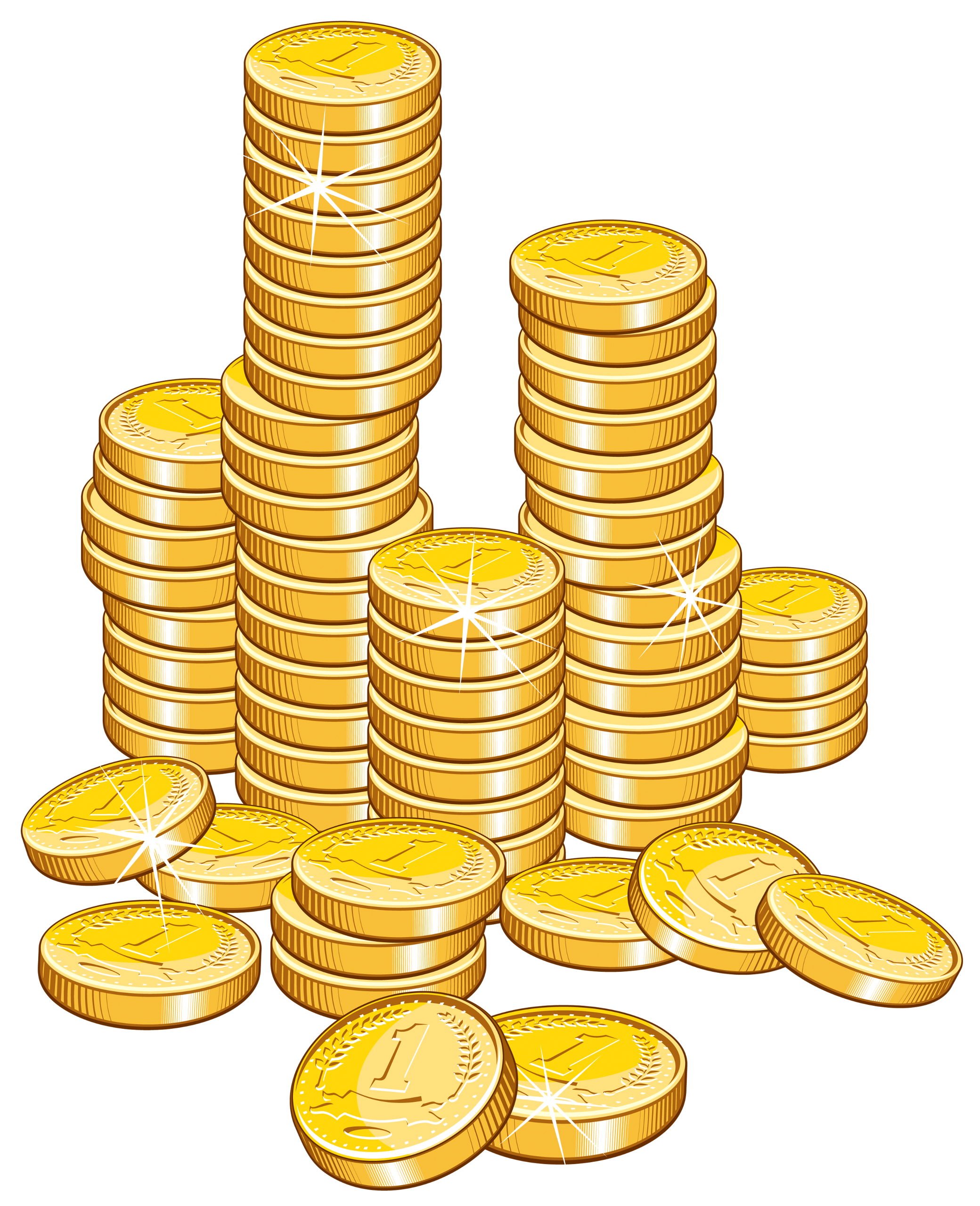 Coins stack clipart picture