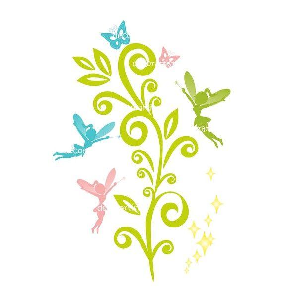 Fairy clip art silhouette clip art fairy silhouette instant