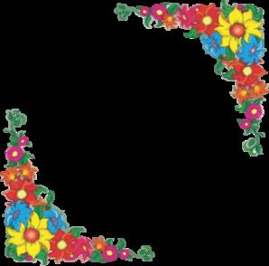 Flower border clip art at clker vector clip art