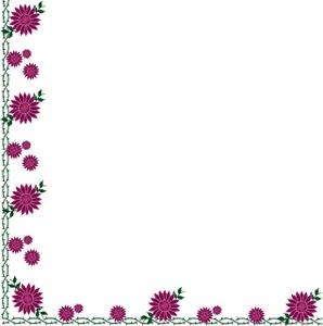 Flower border clip art borders flowers