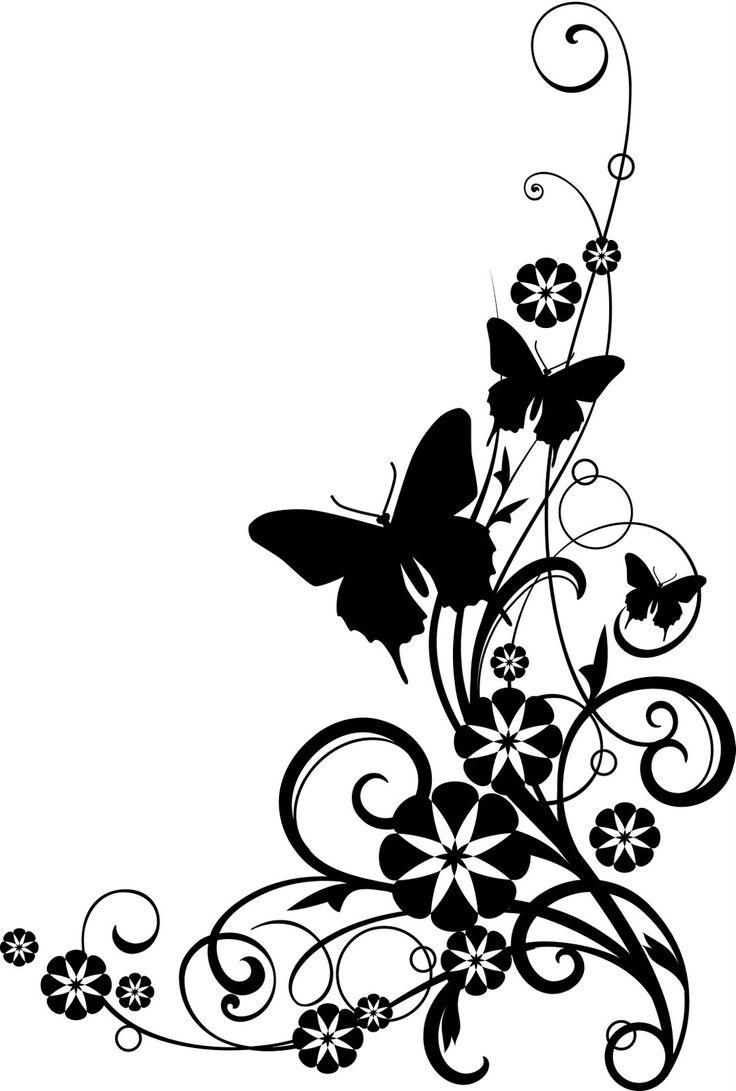 Flower border clipart butterfly clip art clip art free clip art borders