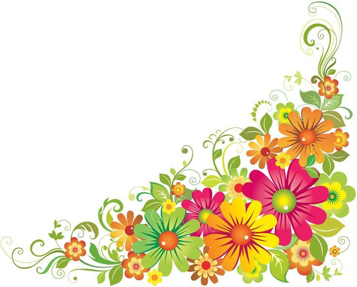 Flower Border Colorful Flowers Corner Clip Art Yandeks ...