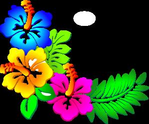 Flower border flower lei border clipart