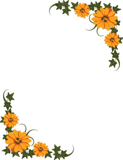 Flower border flower page border clipart