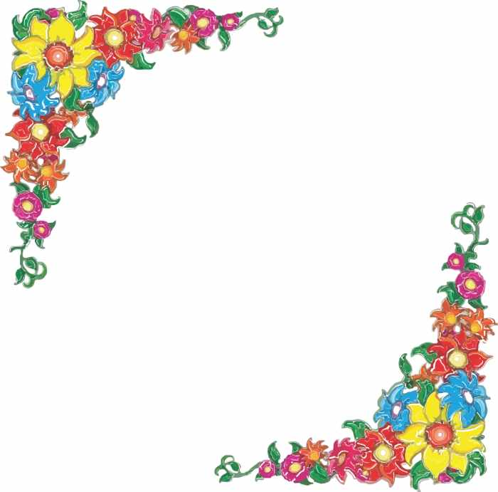 Flower border flower picture border clipart
