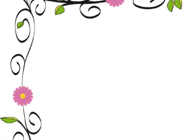Flower border flowers borders clip art school clip art