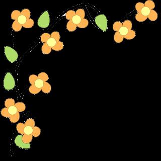 Flower border free clip art