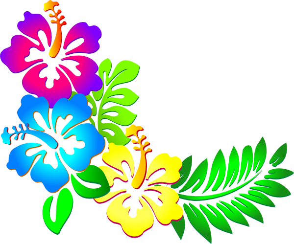 Flower border luau flowers clip art borders free clipart