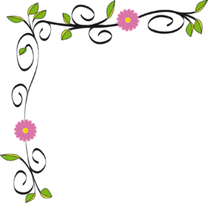 Flower border spring flowers border clipart free clipart images