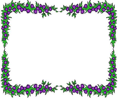 Free flower borders flower border clipart 2