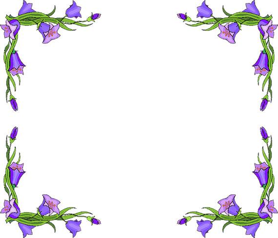 Free flower borders flower border clipart