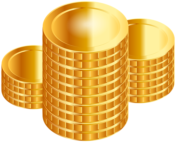 Gold coins clip art image