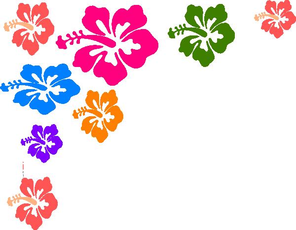 Hawaiian flower border clip art free clipart images