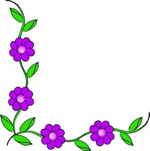 Purple flower border clip art free clipart images