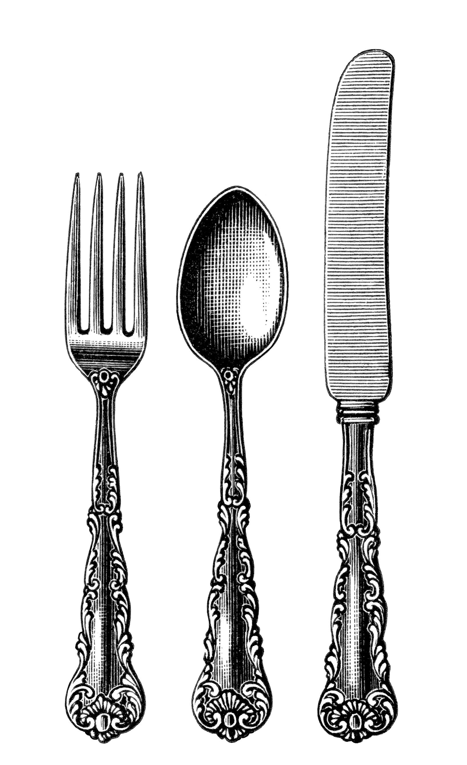 Vintage fork clipart