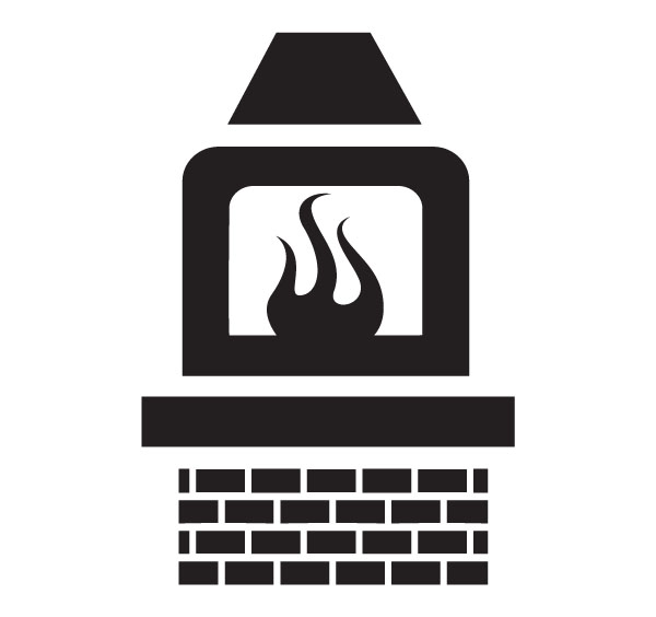 Fireplace home clip art for custom engraved products