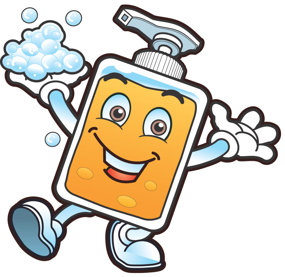Germs hand washing clipart