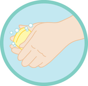 Hand washing hands clipart image of hands washing with soap and