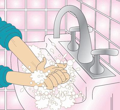 Hand washing washing hands 2 clip art