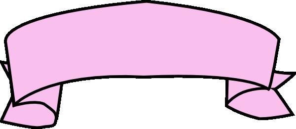 Pink ribbon banner clip art vector clip art free