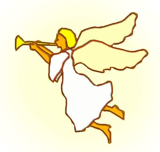Angel clip art trumpet