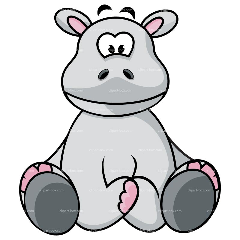 baby hippo clipart - photo #3
