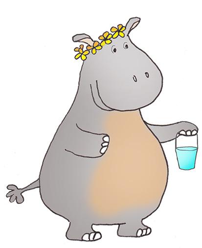 Cartoon hippo clipart