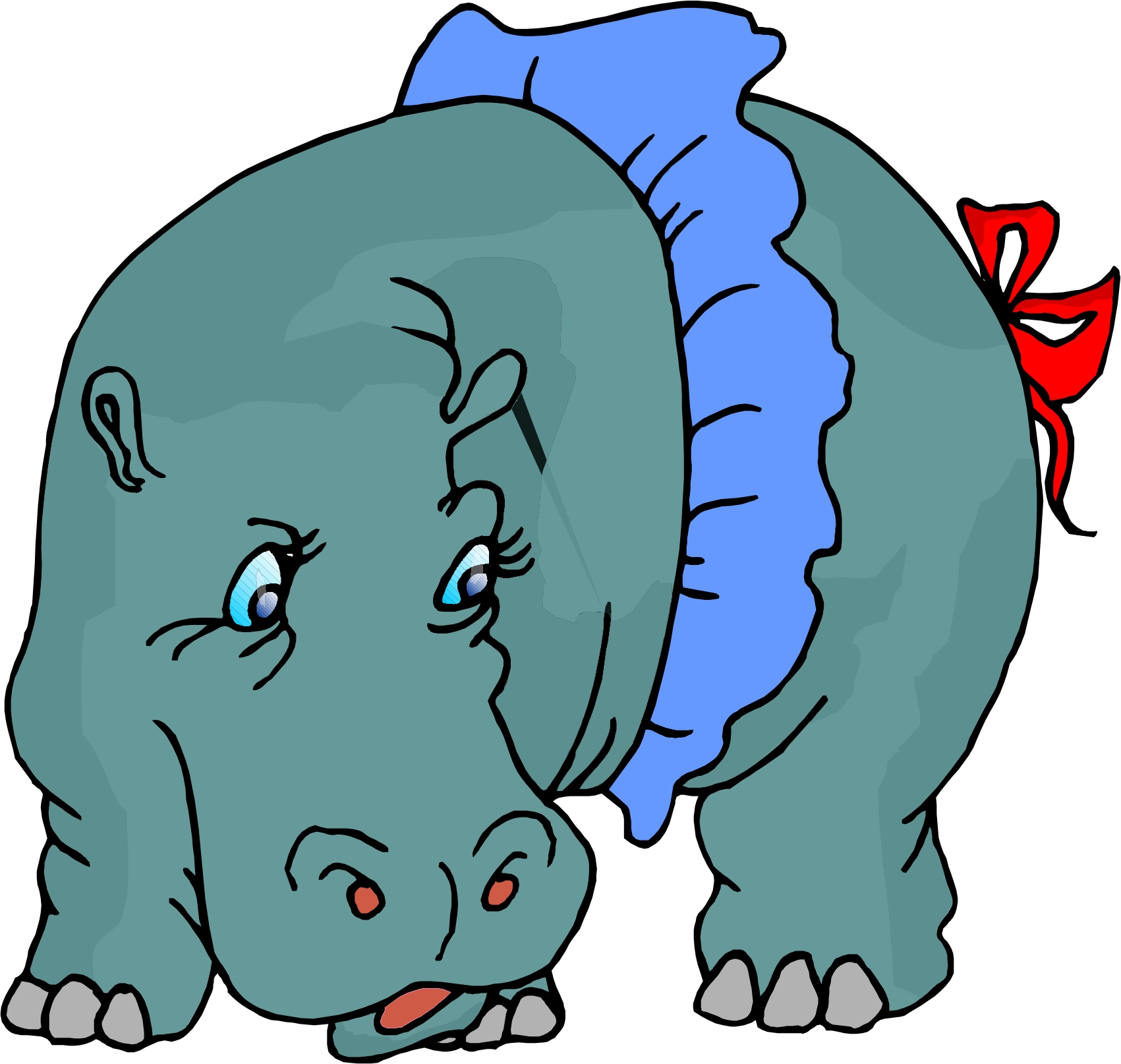Cartoon hippo pictures clipart