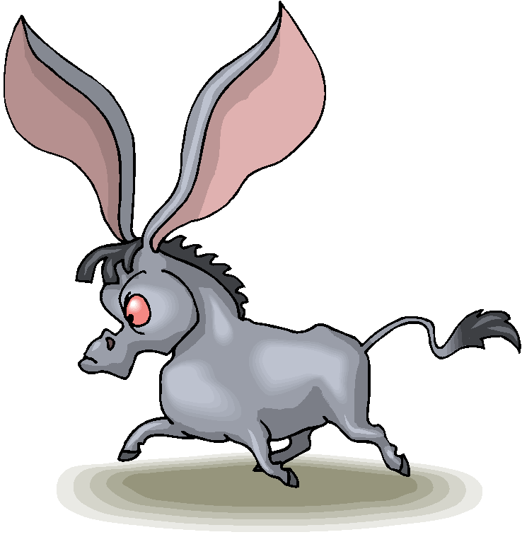 Clip art donkey clipart