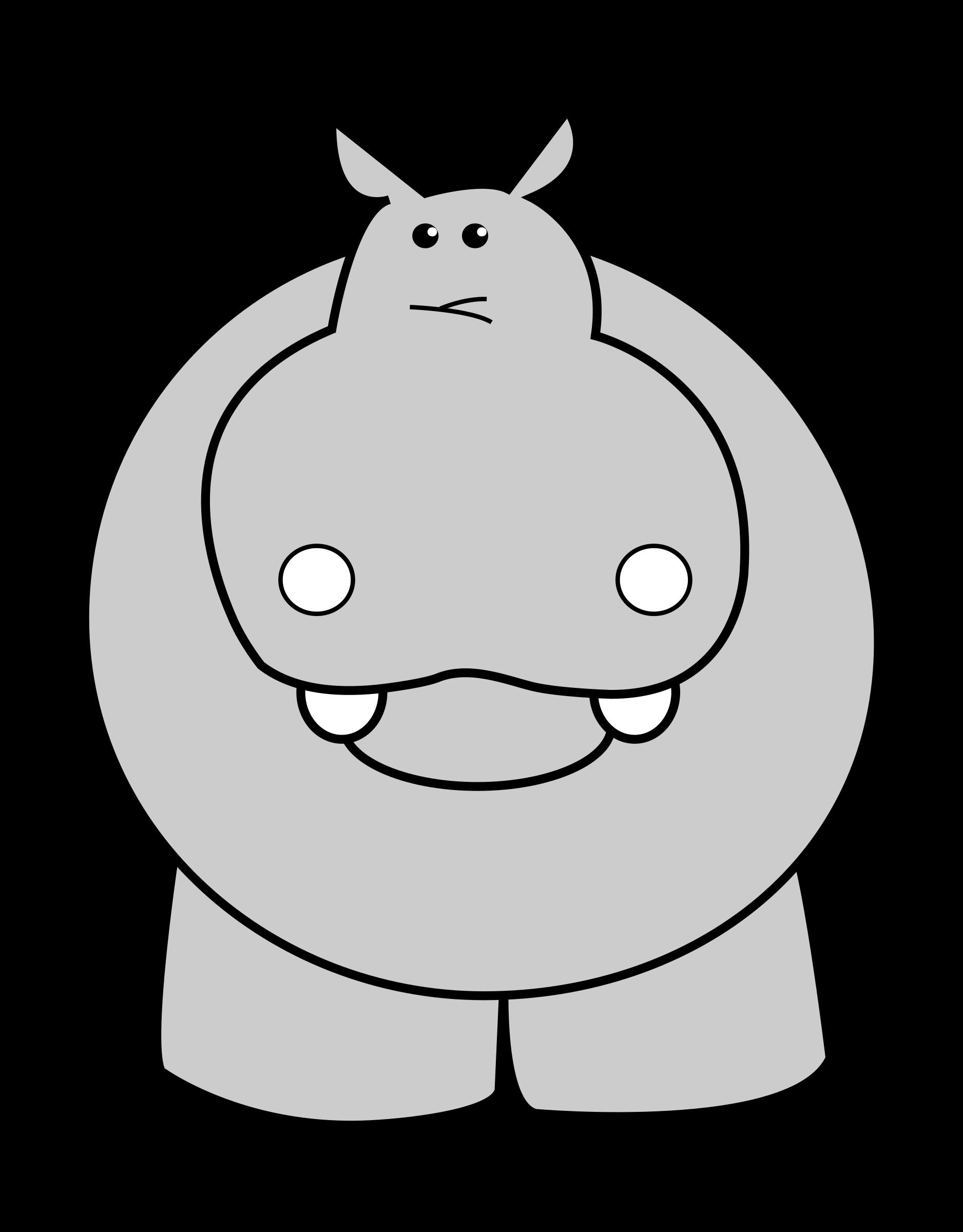 Clipart hippo