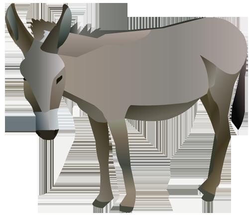 Donkey clipart 4
