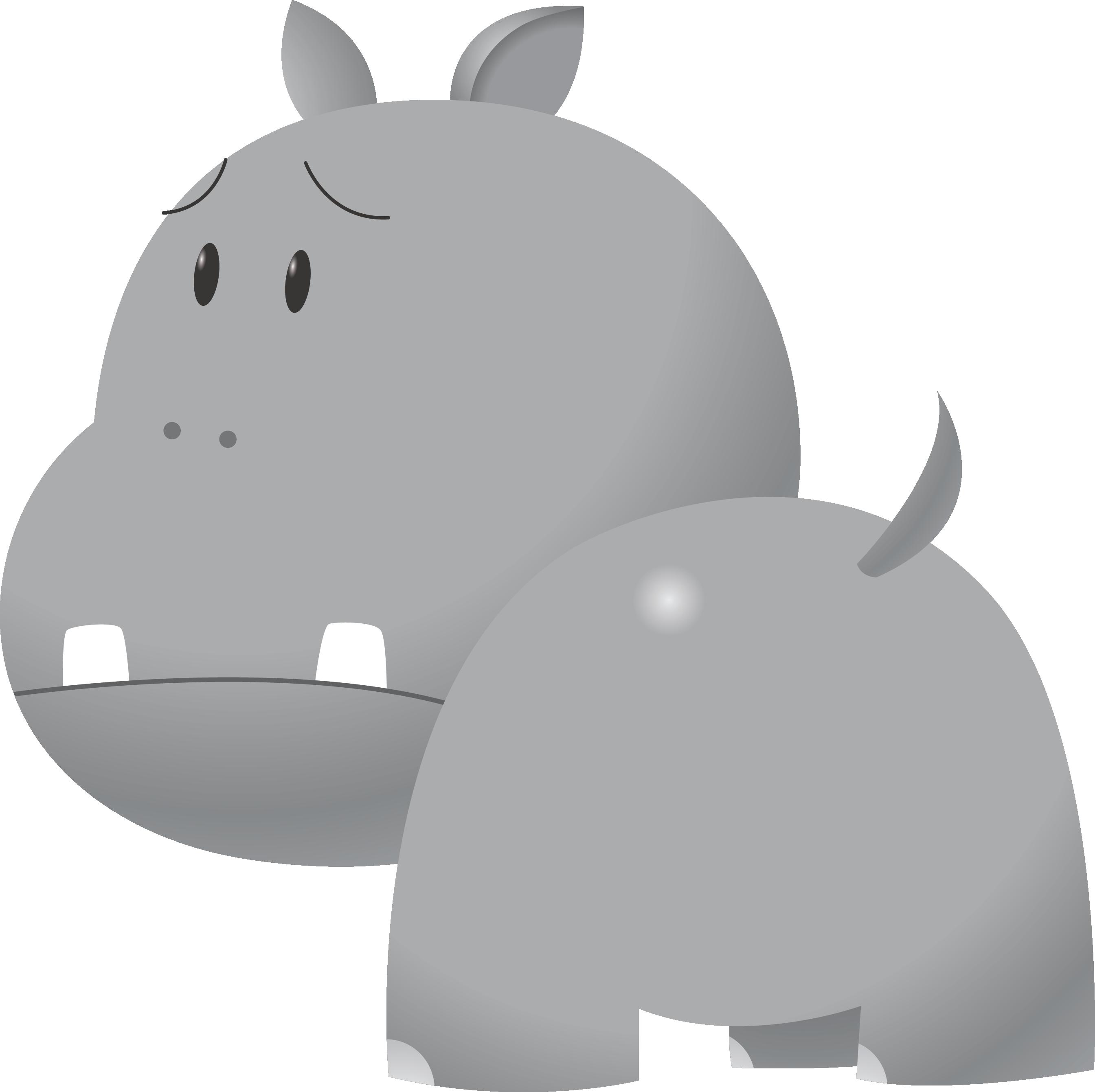 Free cute hippo clip art