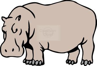 Hippo clipart 2