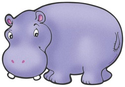 Hippo clipart 3
