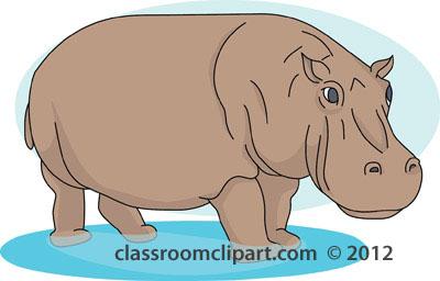 Hippo clipart hippopotamus in water 2 clipart
