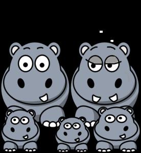Hippo family clip art at clker vector clip art
