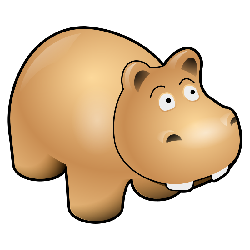 Hippo free to use  clip art