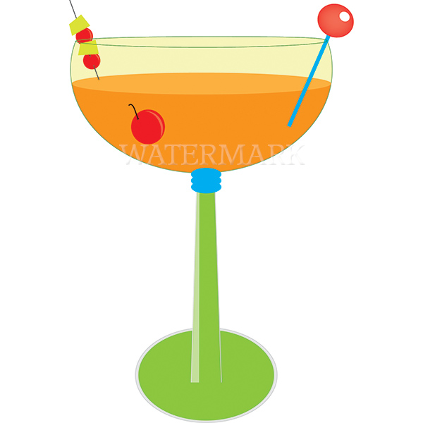 Mango margarita clipart printable digi designs