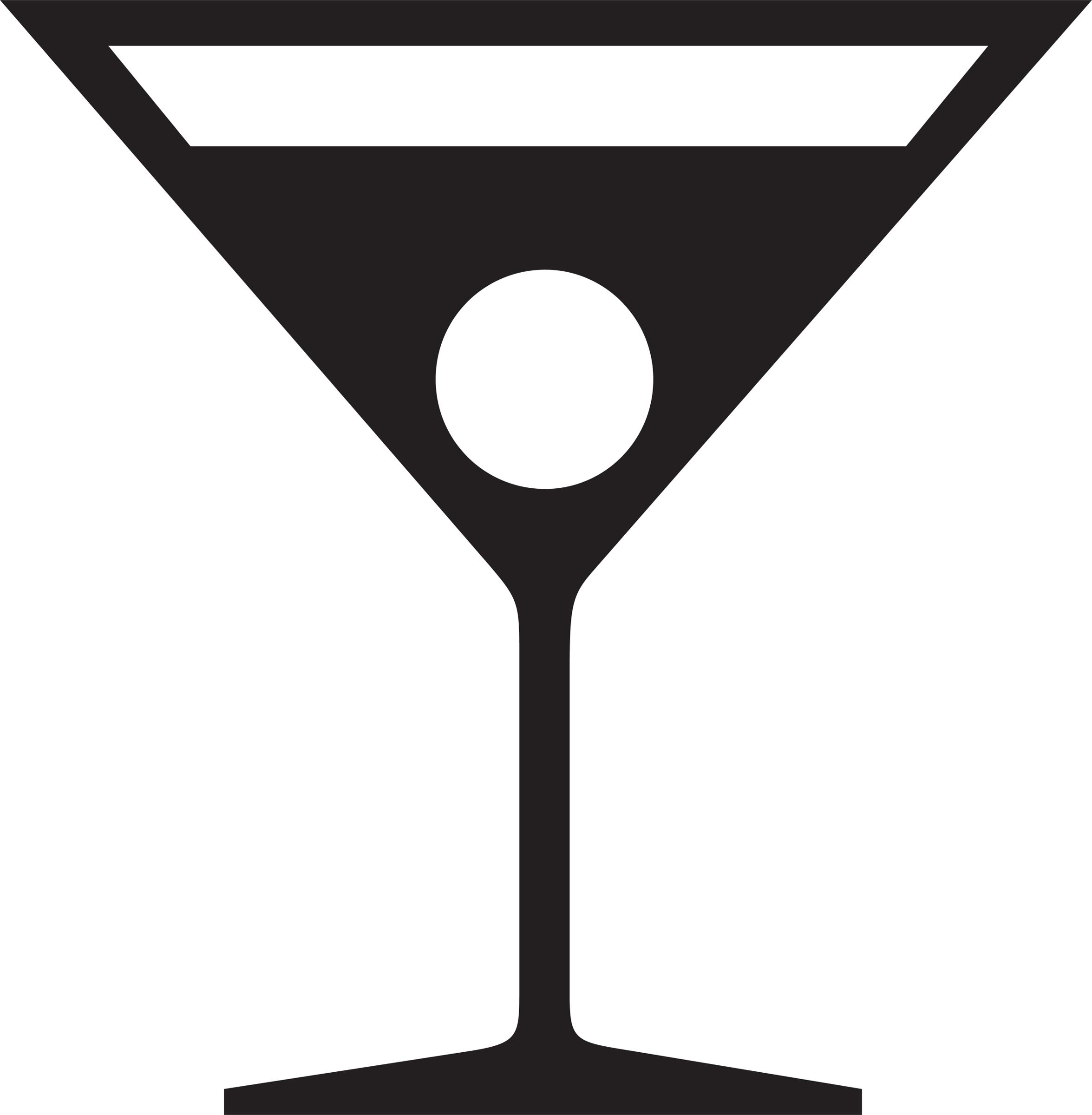 Margarita cocktail glass clipart