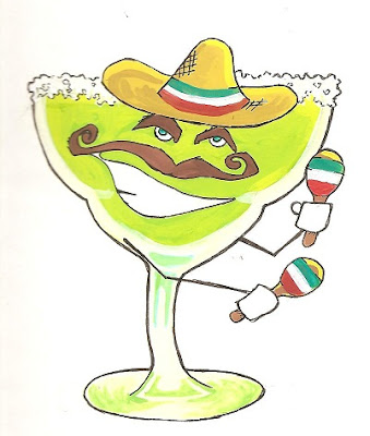 Margarita parrot cartoon clipart