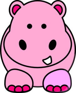 Pink hippo clip art at clker vector clip art