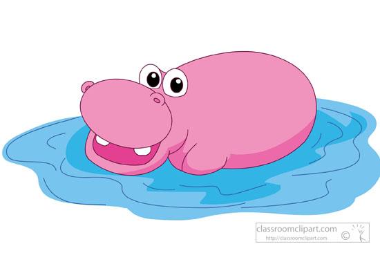 free clip art hippo cartoon - photo #49